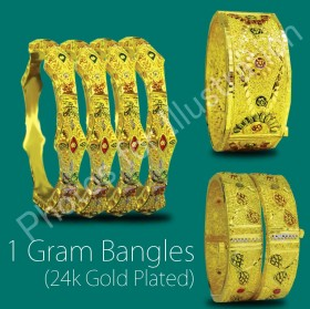 1 GRAM GOLD BANGLES (24CT GOLD PLATED)