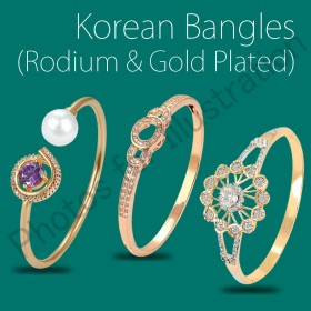 FASHION BANGLES(GOLD,ROSE GOLD & RODIUM PLATED)