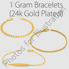 24ct Gold Plated Bracelets