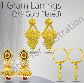 24ct Gold Plated Earrings