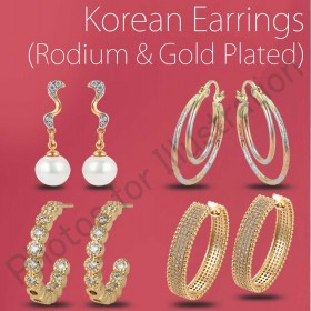 Fashion Earrings (Gold & Rodium plated )