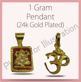 24ct Gold Plated Pendents