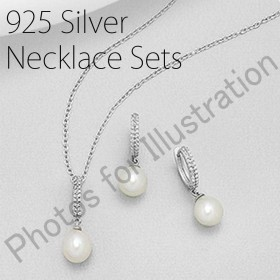 STERLING SILVER SETS (925 SILVER WITH RODIUM PLATED)