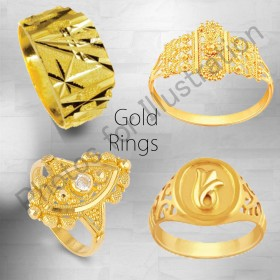 ALL GOLD RINGS