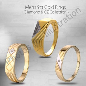 9ct Gold Mens Rings