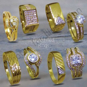 18ct Goldfilled Rings(Heavy Gold Plated )
